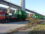 Transport of oversized reactors  from factory in Bulgaria to Varna Port